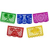 Cinco de Mayo Decorations Small Paper Picado Banner- Multicolor Image