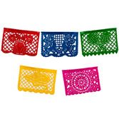 Cinco de Mayo Decorations Small Plastic Mexican Banner- Multicolor Image