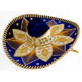 Cinco de Mayo Hats & Headwear Royal Blue and Gold Mariachi Sombrero Image