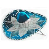 Cinco de Mayo Hats & Headwear Light Blue and White Mariachi Sombrero Image