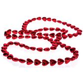 Valentine's Day Party Wear Metallic Heart Bead Necklaces Image