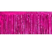 Valentine's Day Table Accessories Cerise Metallic Fringe Table Skirt Image