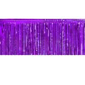 Mardi Gras Table Accessories Purple Metallic Fringe Table Skirt Image