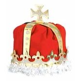 Mardi Gras Hats & Headwear King's Crown Red Velour Image