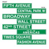 New Years Decorations New York City Street Sign Cutouts Image