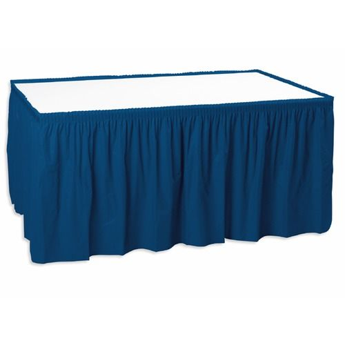 table skirt navy blue table accessories amols