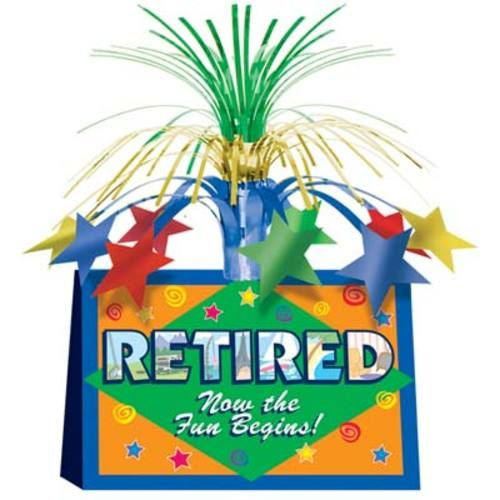 Retired Now Centerpiece - Decorations - Amols' Fiesta Party Supplies