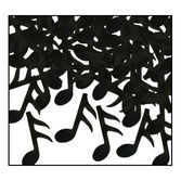 Fifties Decorations Musical Notes Confetti Black Image