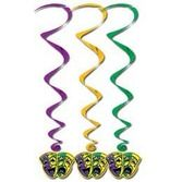 Mardi Gras Decorations Mardi Gras Whirls Image