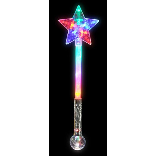 Star magic ball wand glow lights amols 39 fiesta party for Butterfly wands wholesale