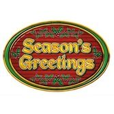 Christmas Decorations Season's Greetings Sign Image