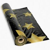 New Years Table Accessories Gold Stars Black Table Roll Image