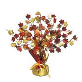 Thanksgiving Decorations Fall Leaves Gleam n' Burst Centerpiece Image