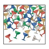 New Years Decorations Champagne Glass Confetti Image