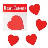 "Valentine's Day Decorations 4"" Heart Cutouts Image"