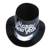 New Years Hats & Headwear Silver Happy New Year Top Hat Image