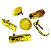 New Years Favors & Prizes Gold Metal Noisemaker Image
