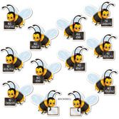 Back to School Decorations Message Bees Cutouts Image