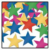 New Years Decorations Multicolor Metallic Stars Confetti Image