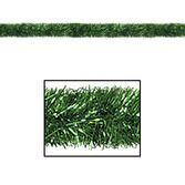 Christmas Decorations Green 100' Tinsel Garland Image