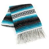Cinco de Mayo Decorations Turquoise Mexican Blanket Image