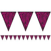 Jungle & Safari Decorations Zebra Print Pennant Banner Image