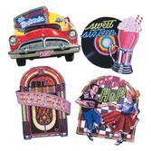 Fifties Decorations Fabulous 50's Cutouts (4/pkg.) Image