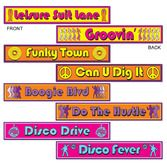 60s & 70s Decorations Disco Street Sign Cutouts Image