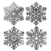 Christmas Decorations Silver Snowflake Cutouts Image