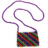 Cinco de Mayo Party Wear Rainbow Beaded Purse Image