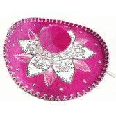 Cinco de Mayo Hats & Headwear Hot Pink and White Mariachi Sombrero Image