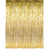 New Years Decorations Gold Metallic Fringe Curtain Image