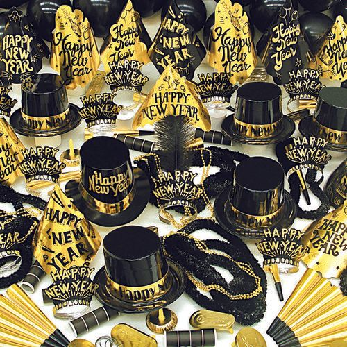 Black & Gold for Black & Gold coordinated parties - Amols' Fiesta