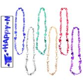 New Years Party Wear Assorted Happy New Year Bead Necklace Image