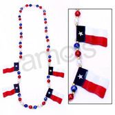 Western Party Wear Texas Flag Bead Necklace Image