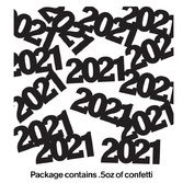 New Years Decorations 2014 Black Metallic Confetti Image