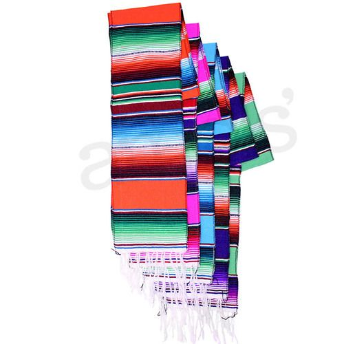 de Cinco Serape Mayo table Image zarape Runner Woven Accessories  Table runner Table