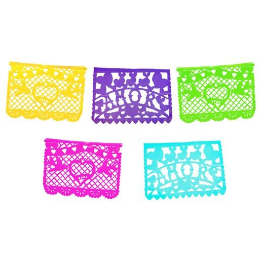 Wedding Decorations Amor Multicolor Papel Picado Banner Image