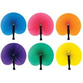 Birthday Party Favors & Prizes Solid Color Paper Fans Image