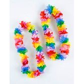 Party Wear / Leis Rainbow Color Carnation Lei Image