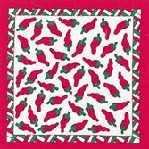 Cinco de Mayo Party Wear White and Red Chili Peppers Bandana Image