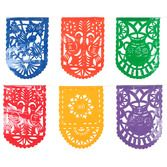 Cinco de Mayo Decorations Plastic Picado Mexican Party Flags Image