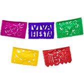 Cinco de Mayo Decorations Mini Fiesta Papel Picado Banner Image