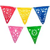 Cinco de Mayo Decorations Festive Fiesta Plastic Pennant Banner Image