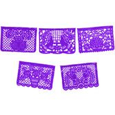 Cinco de Mayo Decorations Large Plastic Purple Picado Image