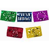 Cinco de Mayo Decorations Small Metallic Fiesta Picado Image