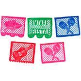 Cinco de Mayo Decorations Viva Fiesta Plastic Picado Banner Image