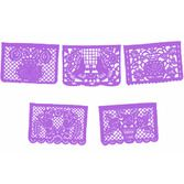 Cinco de Mayo Decorations Large Paper Purple Picado Image