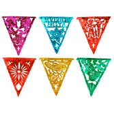 Cinco de Mayo Decorations Fiesta Metallic Pennant Banner - Multicolor Image