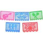 Cinco de Mayo Decorations Jumbo Fiesta Papel Picado Banner Image